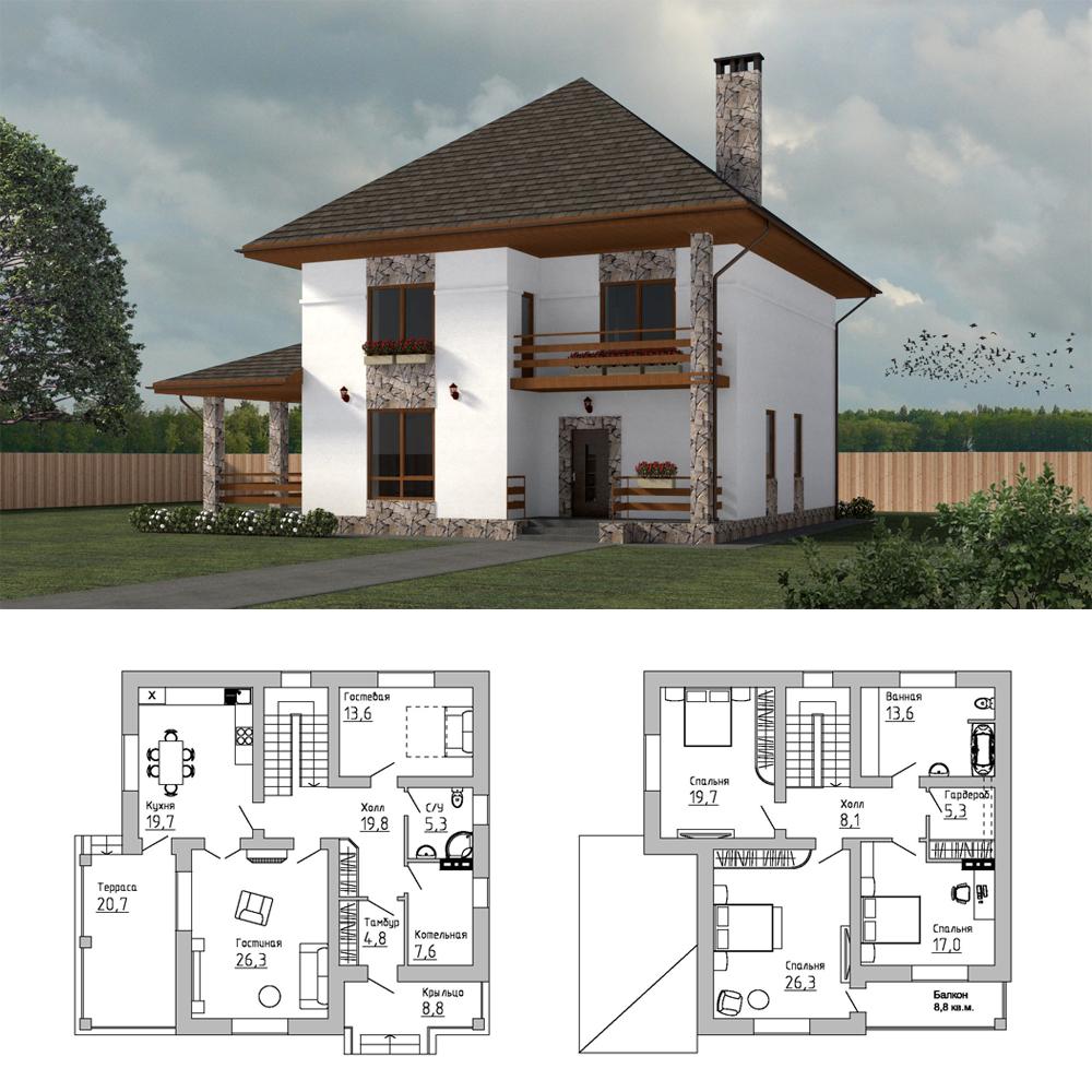 Проект-двухэтажного-дома-Подмосковье