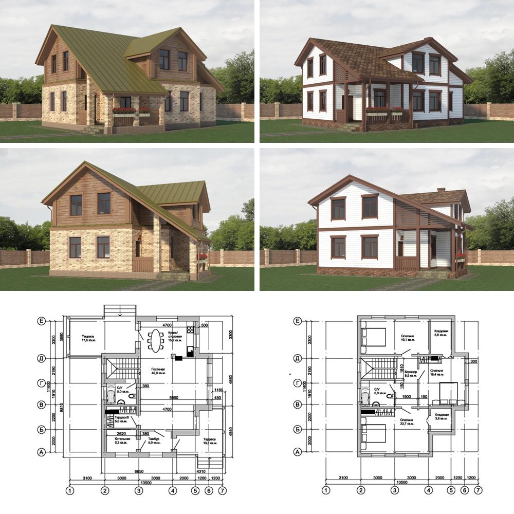 Проект-комбинированного-дома-Подмосковье