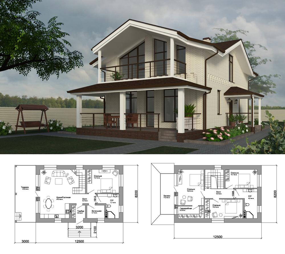 Проект-небольшого-дома-Подмосковье