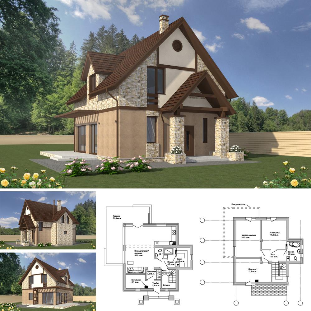 Проект-небольшого-дома-в-СНТ-Подмосковье