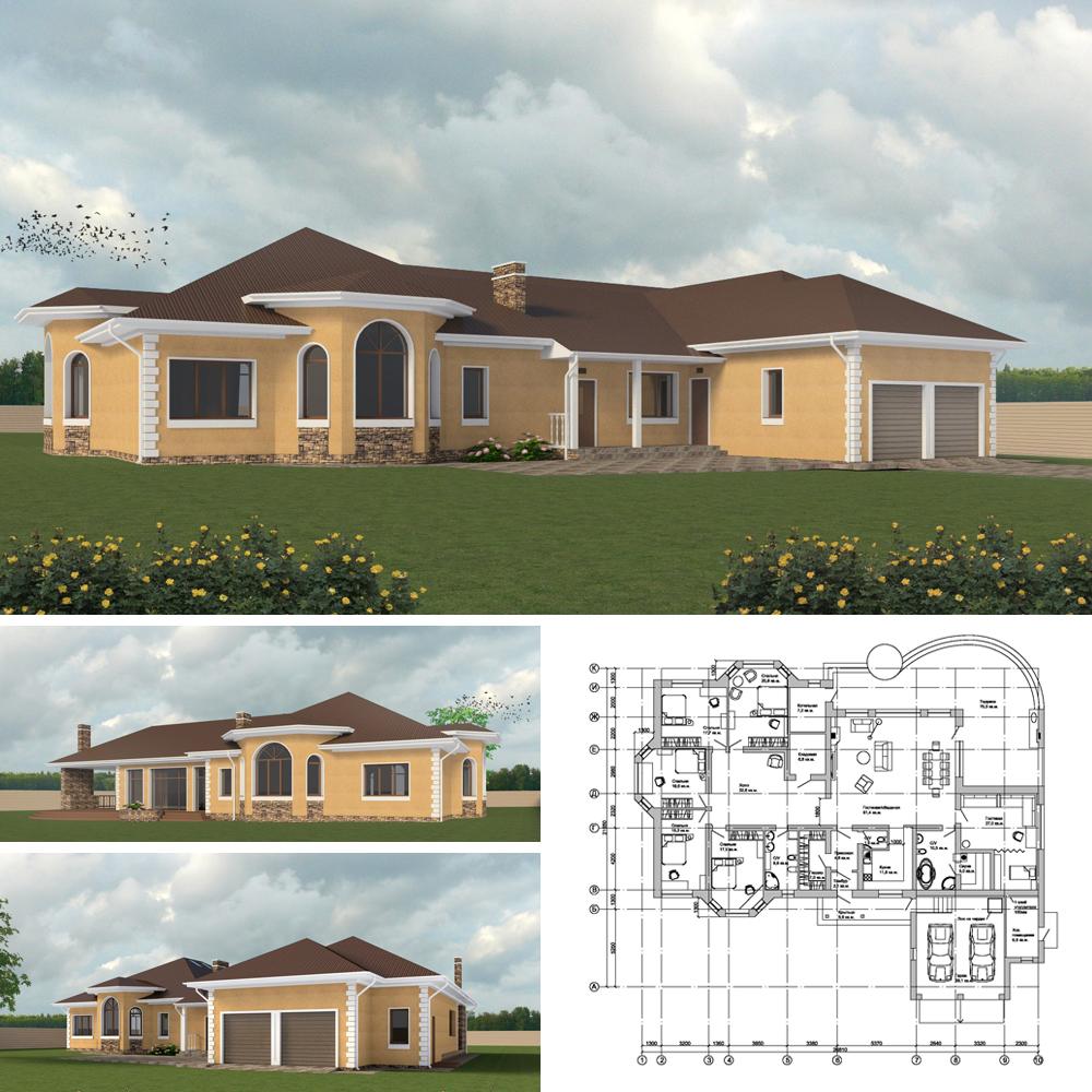 Проект-одноэтажного-дома-Подмосковье